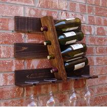 Cava De Vino De Madera Rustica Industrial 4 Botellas Mod 025