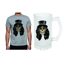 Kit Camiseta E Caneca Caveira Slash Guns Rock N Roll 385