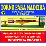 Máquina Para Tornear Madeira 1 Metro