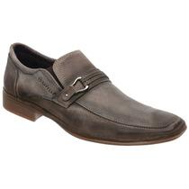 Sapato Savelli Linha Comfort Premium Couro Cenere Solado Gel