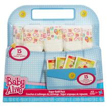 Refil Com 15 Fraldas E 15 Comidinhas Baby Alive Hasbro