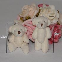 100 Chaveiros Lembrancinhas Mini Ursinhos De Pelúcia - 6cm