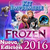 Kit Frozen Imprimible Cumpleaños Fiestas Cotillones