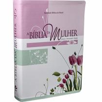 Bíblia De Estudo Da Mulher Grande 17x23,5cm Tulipa+ Capa