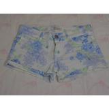Shorts De Jean Estampado Vertu!