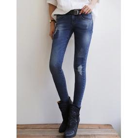 Pantalon Bleach Rotos Demim - Marino