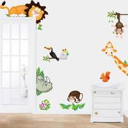 Adesivo De Parede Infantil Bichos Da Floresta Vários Modelos