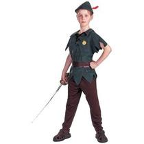 Disfraz Niño Peter Pan Traje - Traje De Niño Estándar - Peq