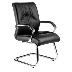 Cadeira Interlocutor Diretor Roma Em Couro Natural C/ Braços