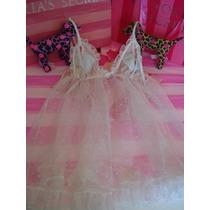 Victorias Secret The Bridal Mesh Baby Doll Pezonero Sz M
