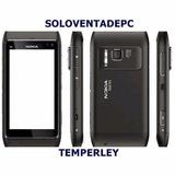 Carcasa Nokia N8 Negro + Tactil + Auricular + Parlante Speak
