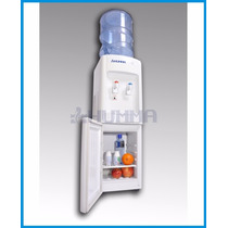 Dispenser Agua Frio Calor Con Heladera Para Botellon Humma