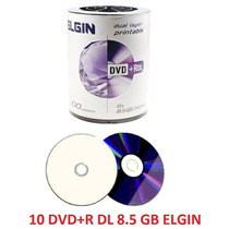 10 Dvd+r Dl Elgin 8.5 Gb Dual Layer Printable