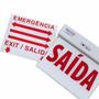 Placa Sinalização Saída Emergência Acrílica Autônoma Led