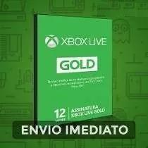 Cartão Xbox Live Gold 12 Meses - Imperdível