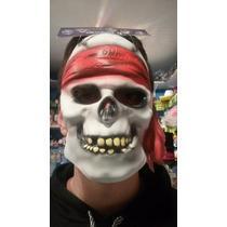 Disfraz Mascara Latex Calavera Pirata Halloween