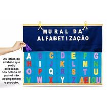 Painel Mural Da Alfabetização 28 Bolsos Eva Carlu