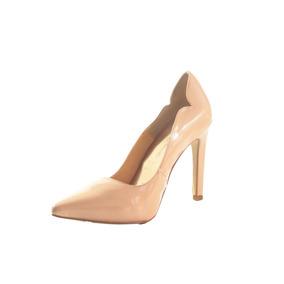Stiletto Tacon María Charol Color Natural Zapato Mujer Nuevo