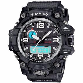 Relógio Militar S-shock Analógico Digital Prova D`água Preto