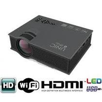 Mini Projetor Led Uc46 Wifi 1200 Lumens Unic Portatil Hdmi