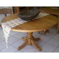 Conjunto Mesa Redonda Roma 1,60x1,60m + 6 Cadeiras