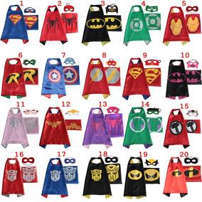 Capa + Antifaz De Superheroes. Disfraz. Vengadores, Batman