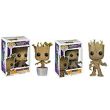 Juguete Funko Pop Marvel Guardianes De La Galaxia - Groot Y