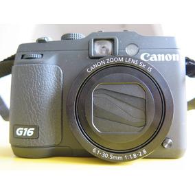 Canon G16 Na Caixa Com Nf + Case + Cartão 8gb Classe 10