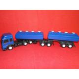 7 Eixos Bitrem Azul Tanque Combustivel Gasolina Comp61cm