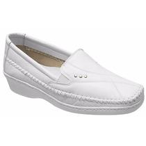 Sapato Feminino Branco Couro Médicos Dentistas Enfermeiros