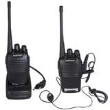 Kit Com 2 Radios Comunicador Ht Uhf 16 Canais Baofeng
