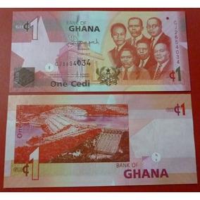 Ghana Billete 1 Cedi Unc 2015 Represa