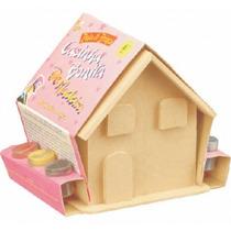 Casinha De Madeira Com Mini Móveis Para Colorir Infantil