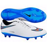 Botines Nike Hypervenom Phatal Fg White/blue Lagoon