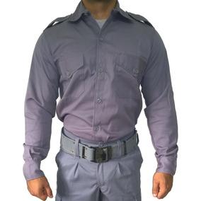 Camisa Manga Larga Gris Servicio Penitenciario Talles 40-48