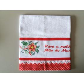 Pano De Prato Ponto Cruz Dia Das Mães - Frete Grátis