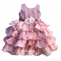 Vestido Infantil Florista Rose Princesa Realeza Com Tiara