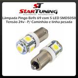 Lâmpada Pingo Ba9s 69 5 Led Smd5050 24 Volts - 10 Unidades