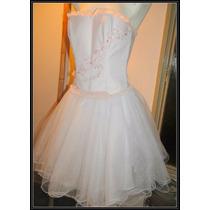 Vestido De 15 O Casamiento Corset Strapless Pollera De Tul