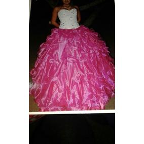 Vestido De 15 Años 3 Piezas Corcet Y Pollera Larga Y Corta