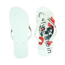 Sandália Chinelo Calvin Klein Branco Bonito Otimo Pra Paceio