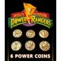 Power Rangers Coins Monedas De Poder (pack De 6)