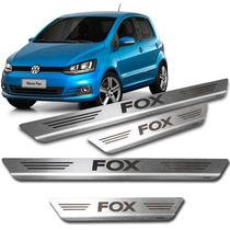 Kit Soleira Porta Fox 2006 ~ 2015 4 P Aço Inox Escovado