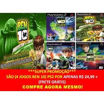 Ben 10 Alien Force Playstation 2 (kit 4 Jogos Ps2 Infantil