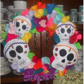 Fieltro Dia De Muertos Corona Dia De Muertos
