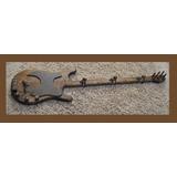 Perchero Guitarra Madera Rustico