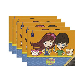 Caderno Brochura Meia Pauta 40 Folhas Pct 5 Un Capa Dura For