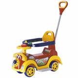 Ring Car Andador Carrinho Com Empurrador - Vermelho Ringcar