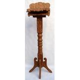 Ambão - Porta Bíblia Com Pedestal Esculpido Em Cerejeira