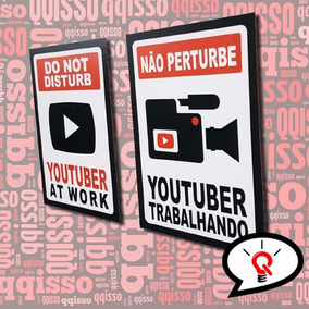 Placa Decorativa Youtuber Youtubers Youtube Frete Grátis (p)